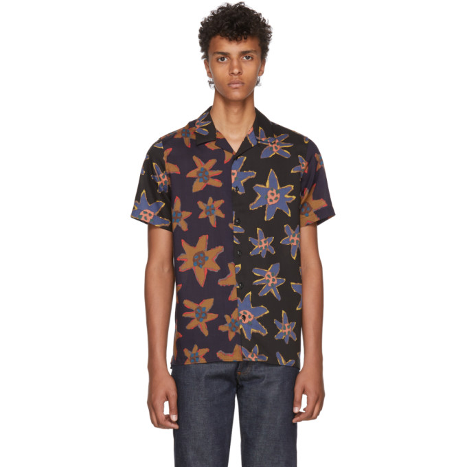 PS BY PAUL SMITH Floral Casual Shirt - Dk. Blue Size Xl in Brown