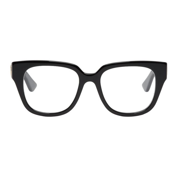 GUCCI Black Oversized Square Glasses