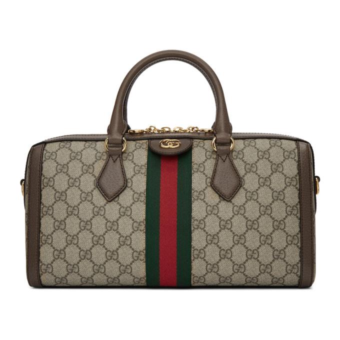 Ophidia Gg Supreme Canvas Top Handle Bag - Beige in 8745 Beige