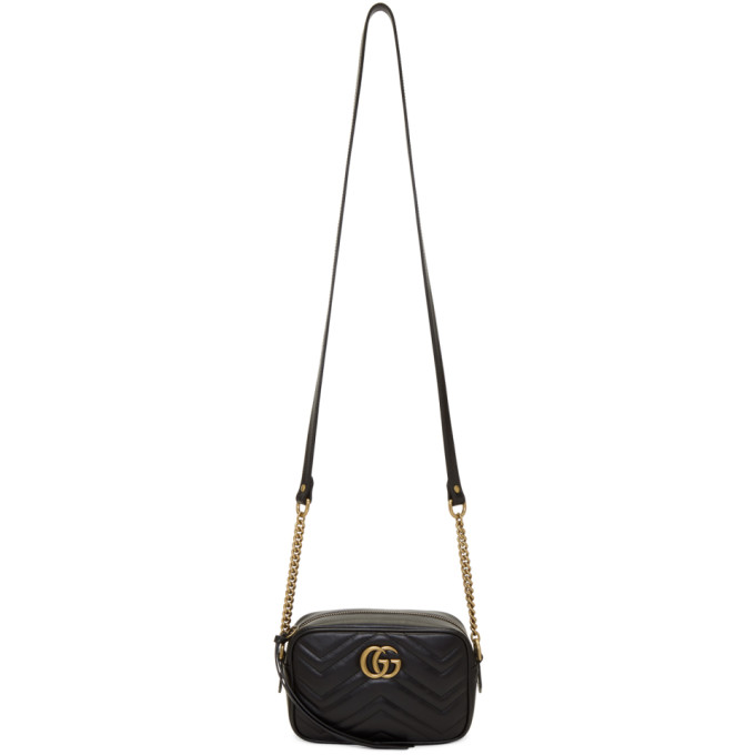Sac Noir Mini Gg Marmont 2.0 Camera by Gucci