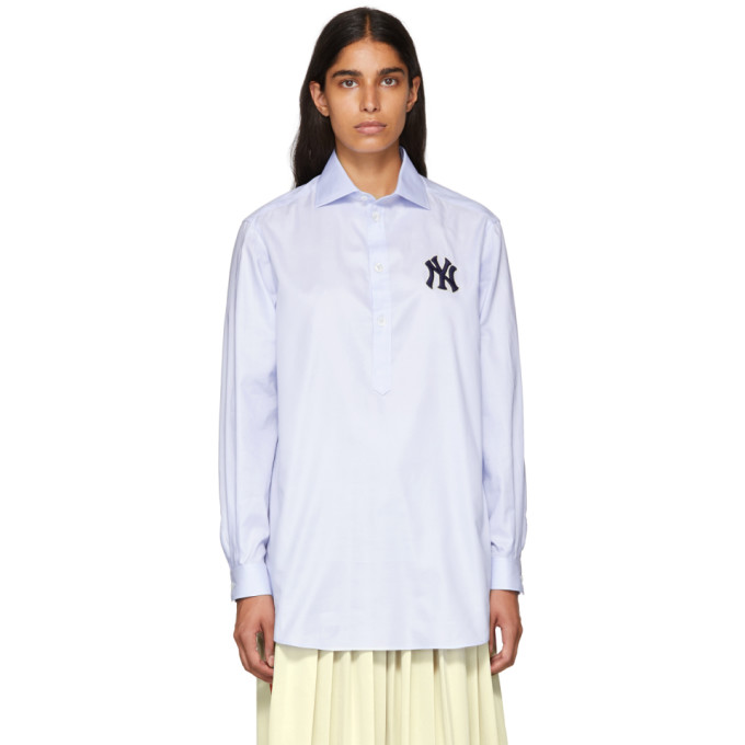 Women'S Shirt With Ny Yankees Patch in 4850 Baby B