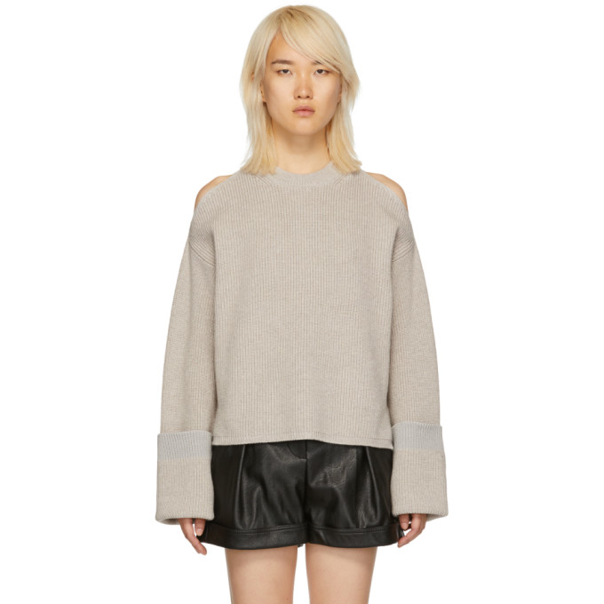 STELLA MCCARTNEY Grey Extended Sleeves Sweater