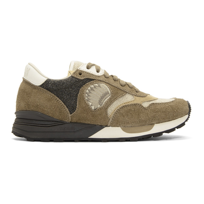 Visvim Roland Suede And Wool Sneakers - Sand  d757f47a7