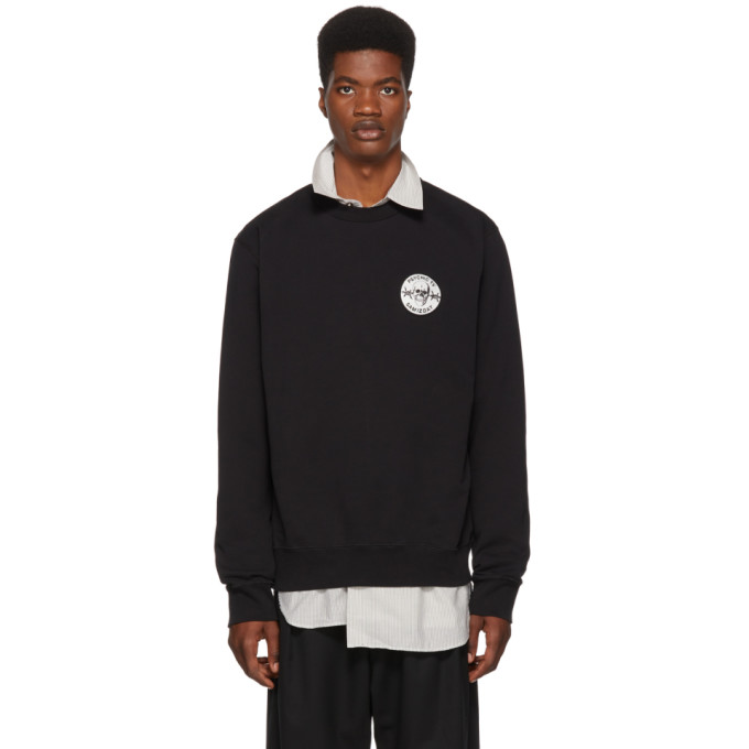 YANG LI Logo Print Sweatshirt  in Black