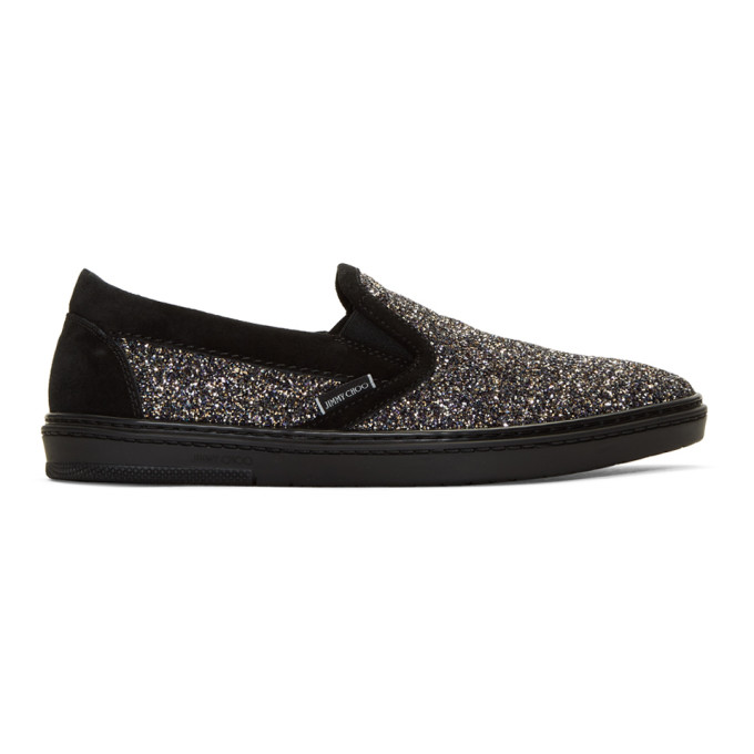 Jimmy Choo Multicolor Glitter Grove Slip-On Sneakers