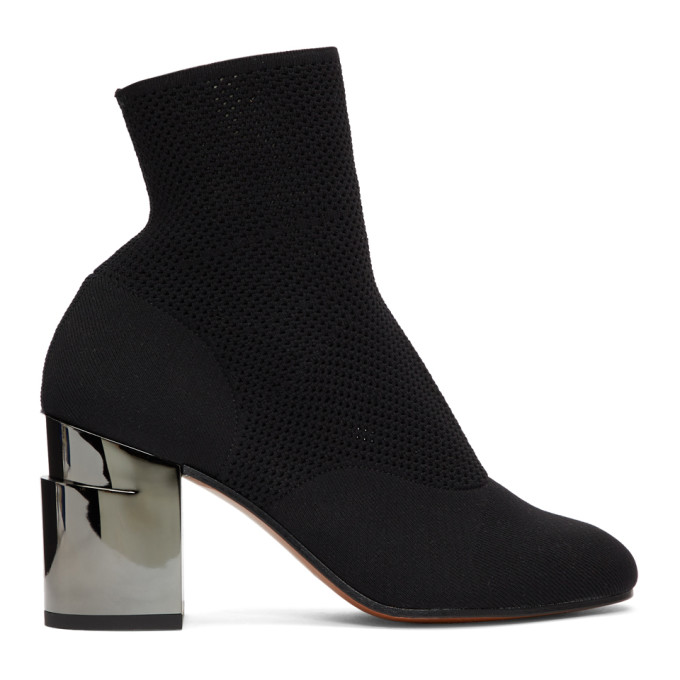 CLERGERIE BLACK KEANE SOCK BOOTS