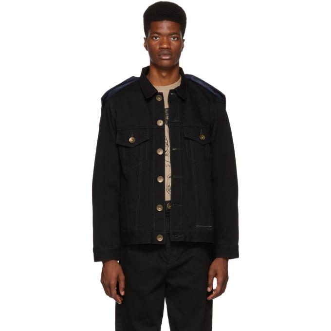 MIHARA YASUHIRO Miharayasuhiro Black Docking Denim Jacket