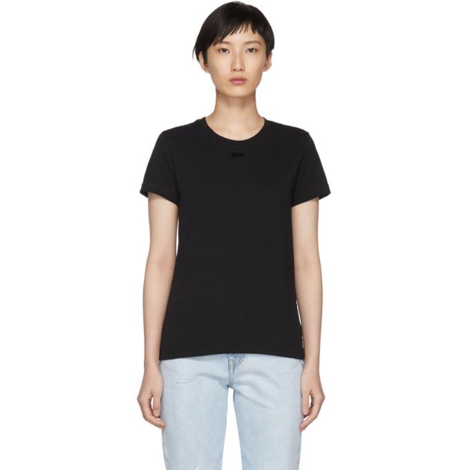 Arrow Flocked Cotton Jersey T-Shirt, Black