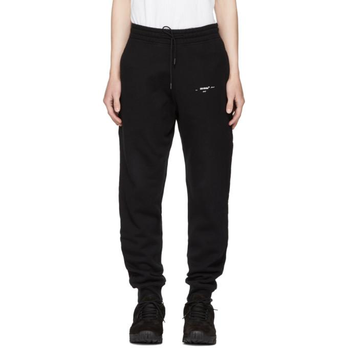 Black Diagonal Marker Arrows Lounge Pants