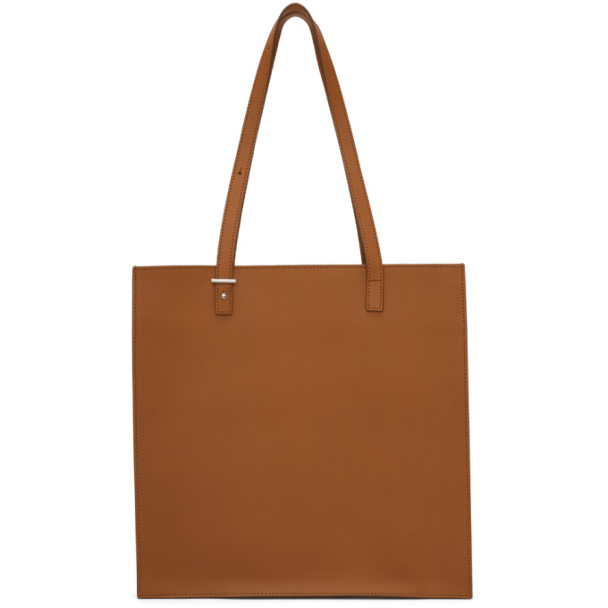 PB 0110 Pb 0110 Brown Leather Tote