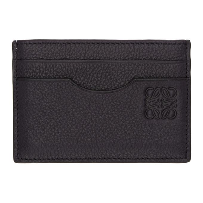 LOEWE Navy Leather Card Holder