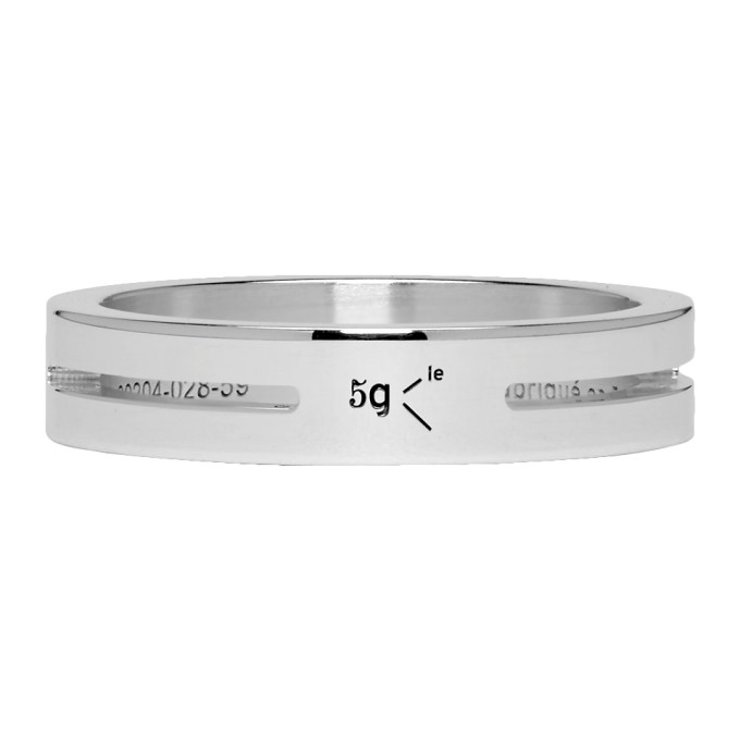 LE GRAMME SILVER PUNCHED LE 5 GRAMMES RING