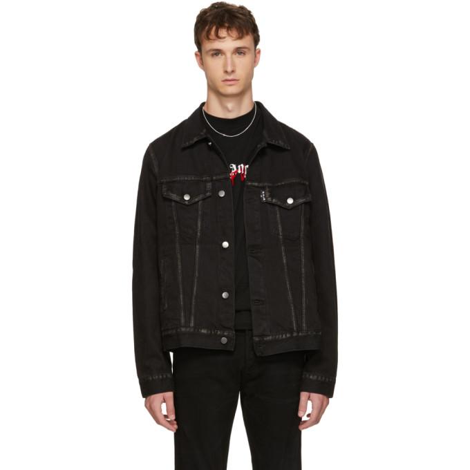 PALM ANGELS Die Punk Denim Jacket in Black