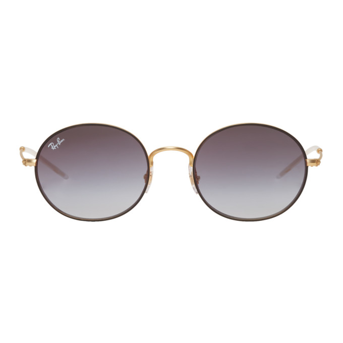 a55e6ef3252 RAY BAN GOLD   GREY METAL ROUND SUNGLASSES