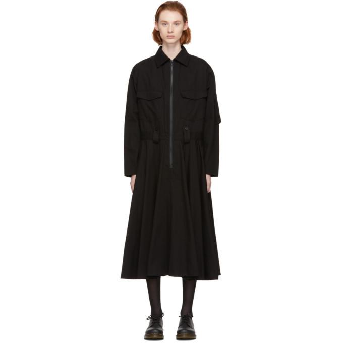 Ys Black Long Military Dress, 3 Black