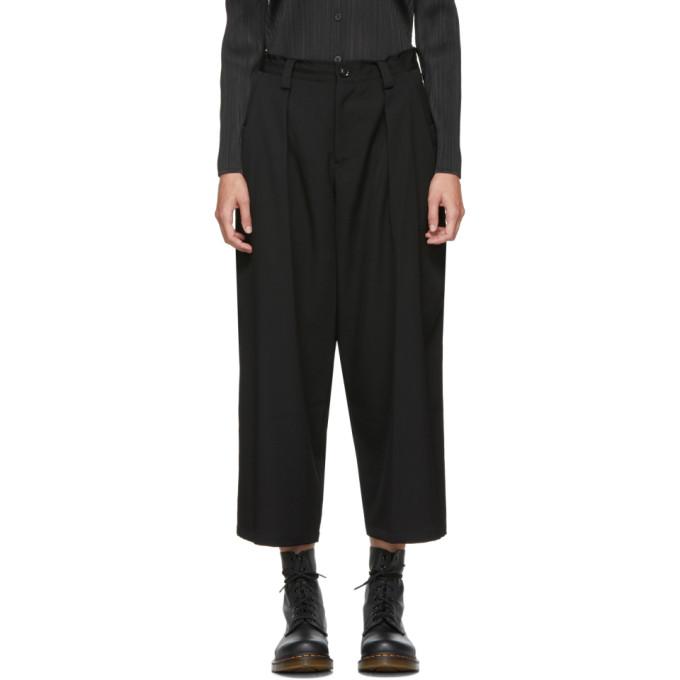 Y'S Ys Black Big Pocket Trousers in 1 Black