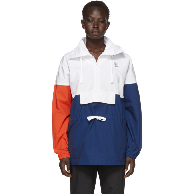 White Colorblock Anorak Jacket by Reebok Classics