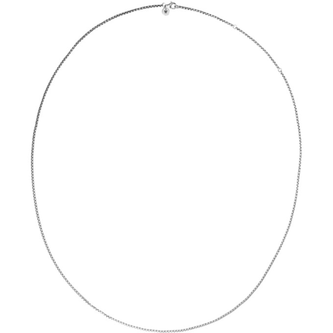 TOM WOOD SILVER SINGLE VENETIAN CHAIN NECKLACE