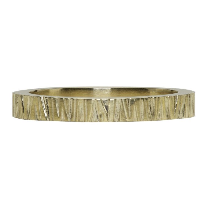 TOM WOOD GOLD STRUCTURE RING
