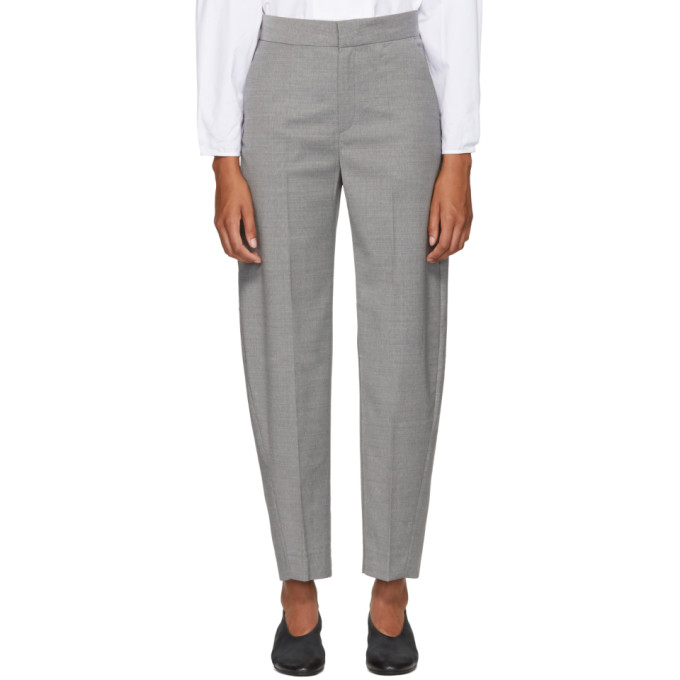 Noma Wool-Blend Straight-Leg Pants in Grey