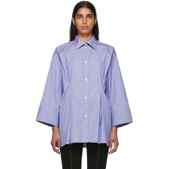 TOTÊME Toteme Striped Kimono Sleeve Shirt - Blue