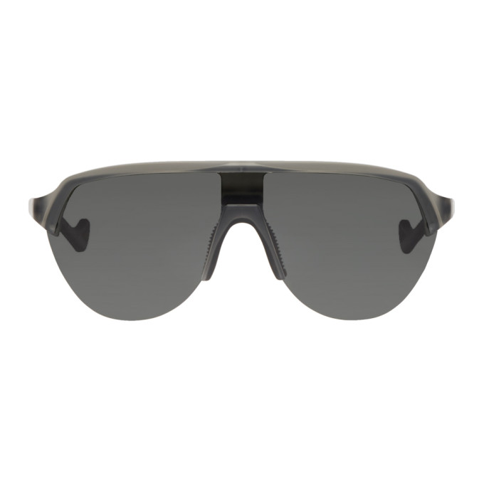 DISTRICT VISION Nagata 62Mm Polarized Sunglasses - Grey/ Grey in Water Gray