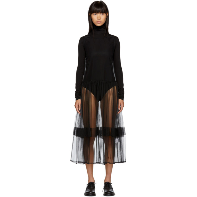MOLLY GODDARD BLACK EVE DRESS