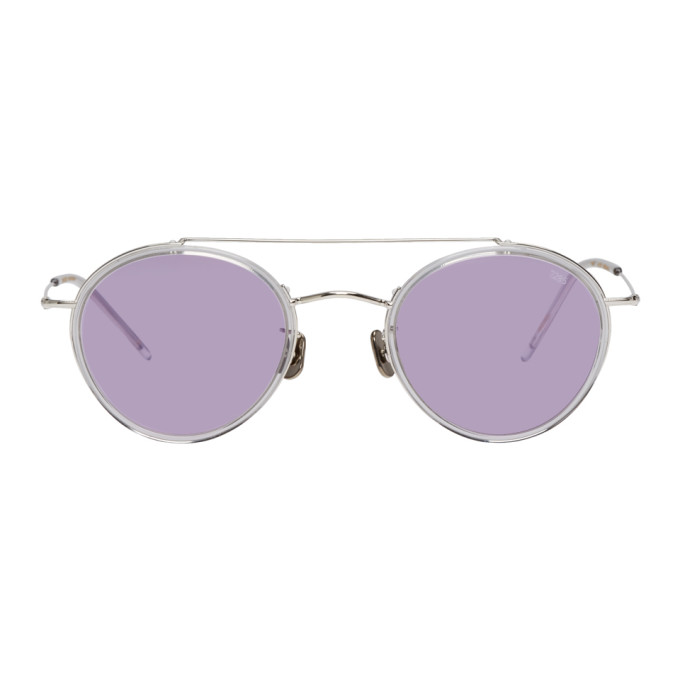 EYEVAN 7285 SILVER AND PURPLE MODEL 769 SUNGLASSES