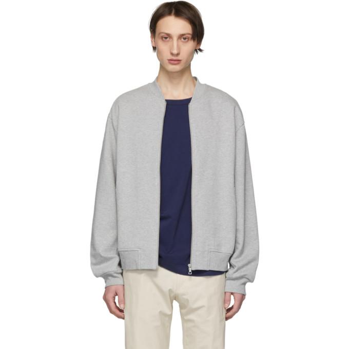 Grey Hoddan Hand Zip Up Sweatshirt by Dries Van Noten