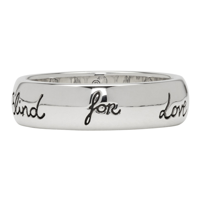 Blind For Love Ring in 0701 Silver
