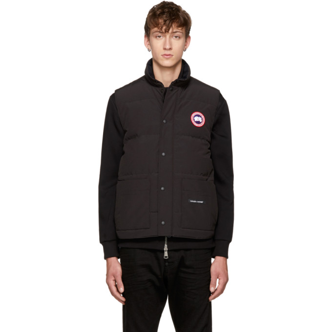 Blakc Down Freestyle Crew Vest, Black