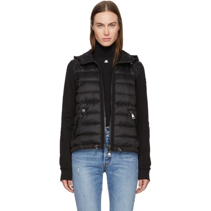 Moncler Black Down & Jersey Jacket