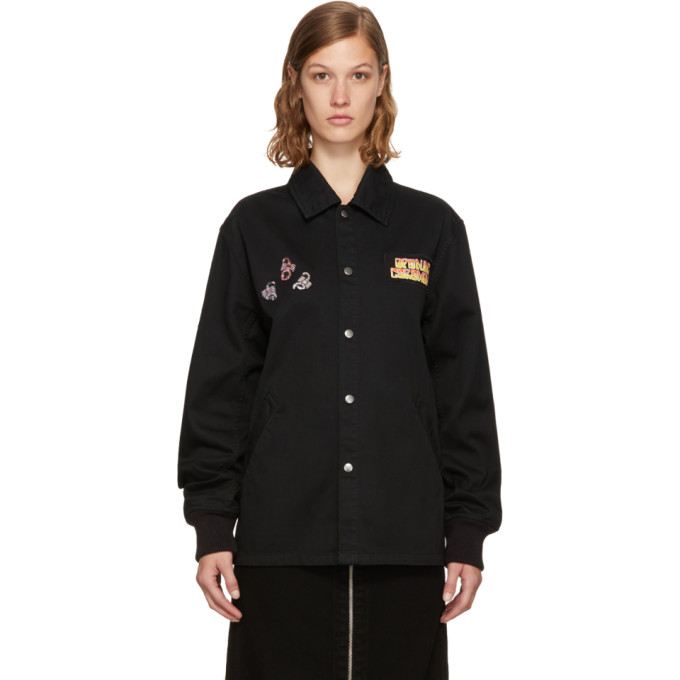 Opening Ceremony 'love Stings' Scorpion Patch Coach Jacket In Black