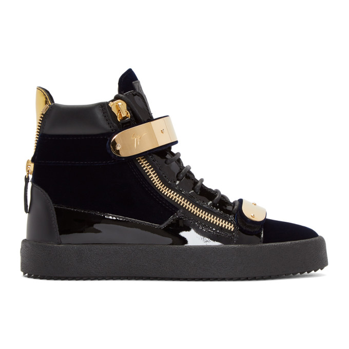 Giuseppe Zanotti Zipper May London High-Top Sneakers