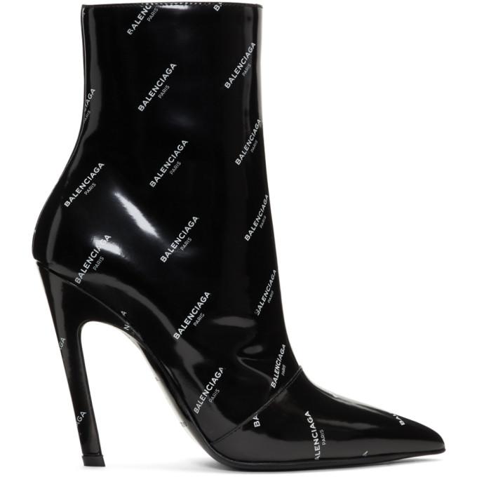 Balenciaga All Over Logo Slash Heels