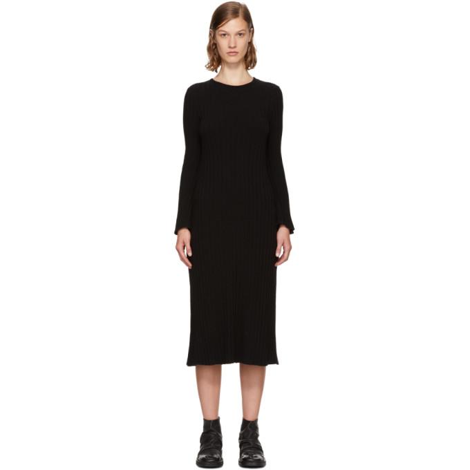 Simon Miller Black Rib Knit Wells Dress Modesens