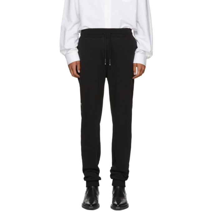 Alyx Cottons SSENSE Exclusive Black  Logo Sweatpants