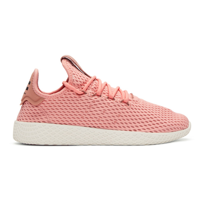 ADIDAS ORIGINALS X PHARRELL WILLIAMS Adidas Unisex Originals Pharrell Williams Tennis Hu Casual Sneakers From Finish Line, Tactile Rose/ Raw Pink