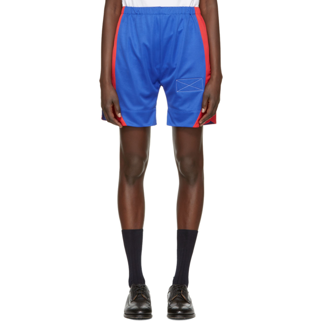 Blue Long Sport Shorts by Martine Rose