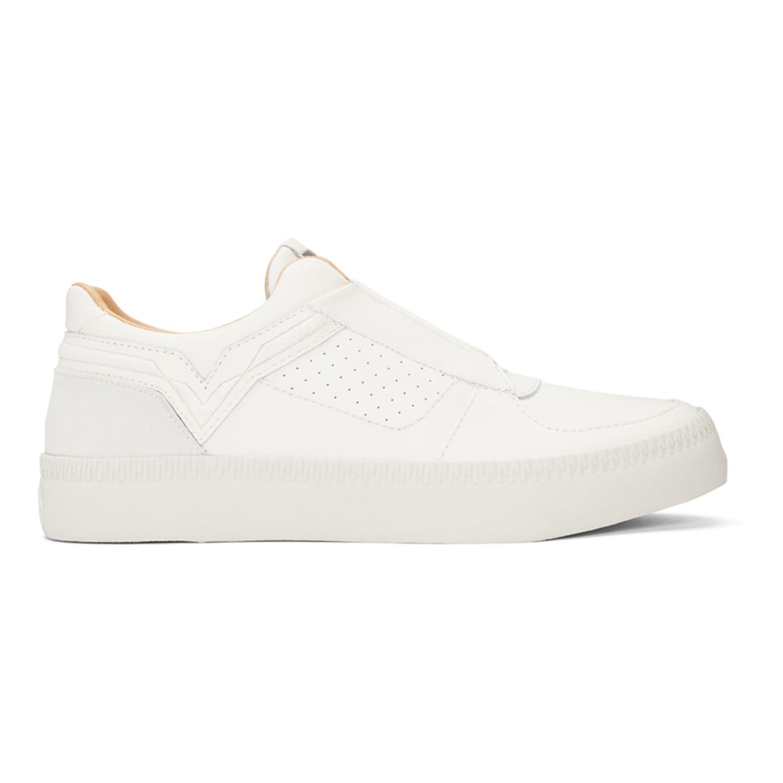 White S Spaark Slip On Sneakers by Diesel