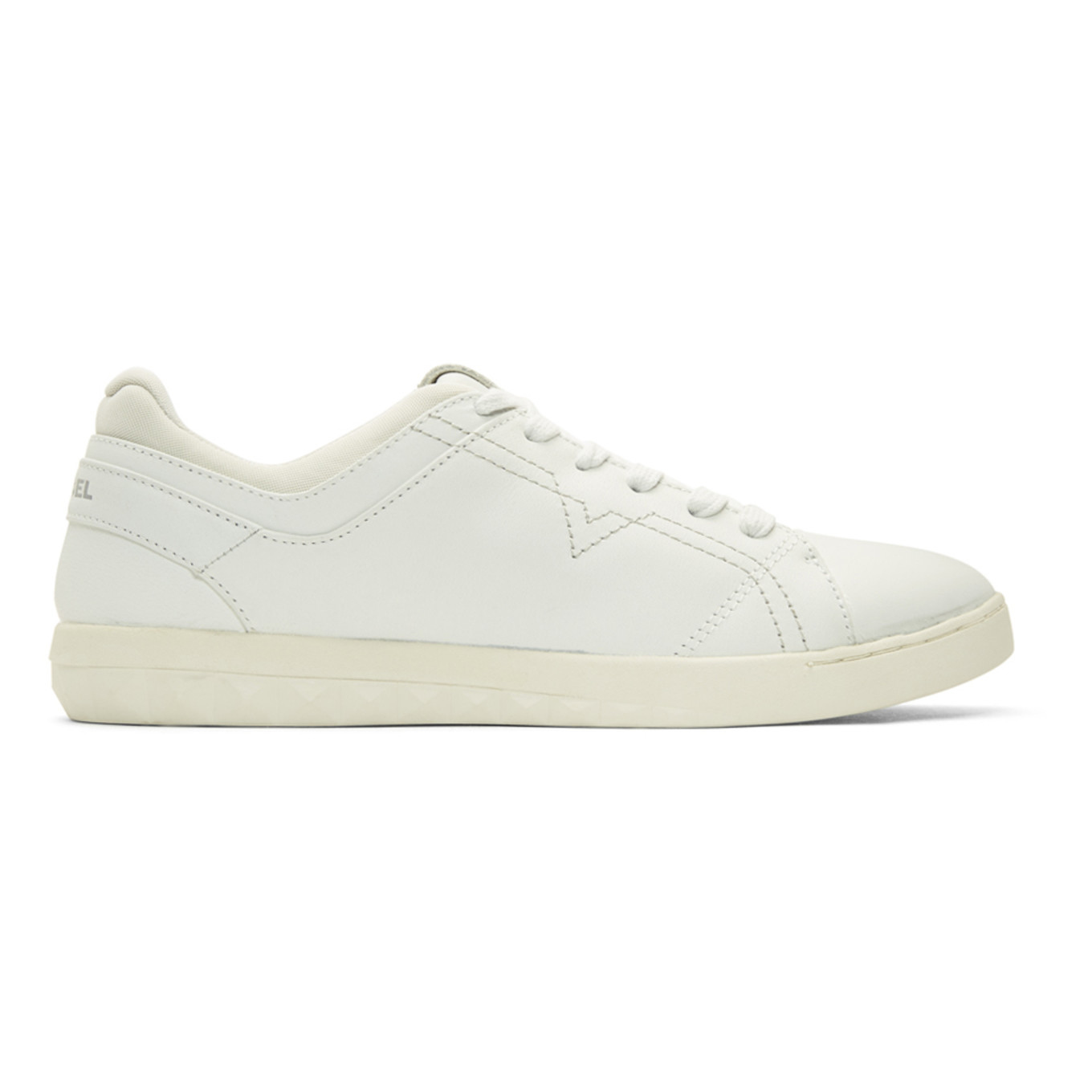 White S Studdzy Lace Sneakers by Diesel