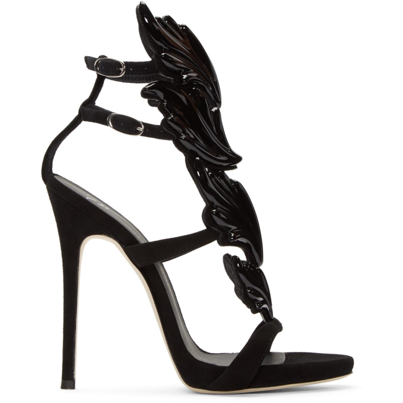 Black Suede Cruel Sandals by Giuseppe Zanotti