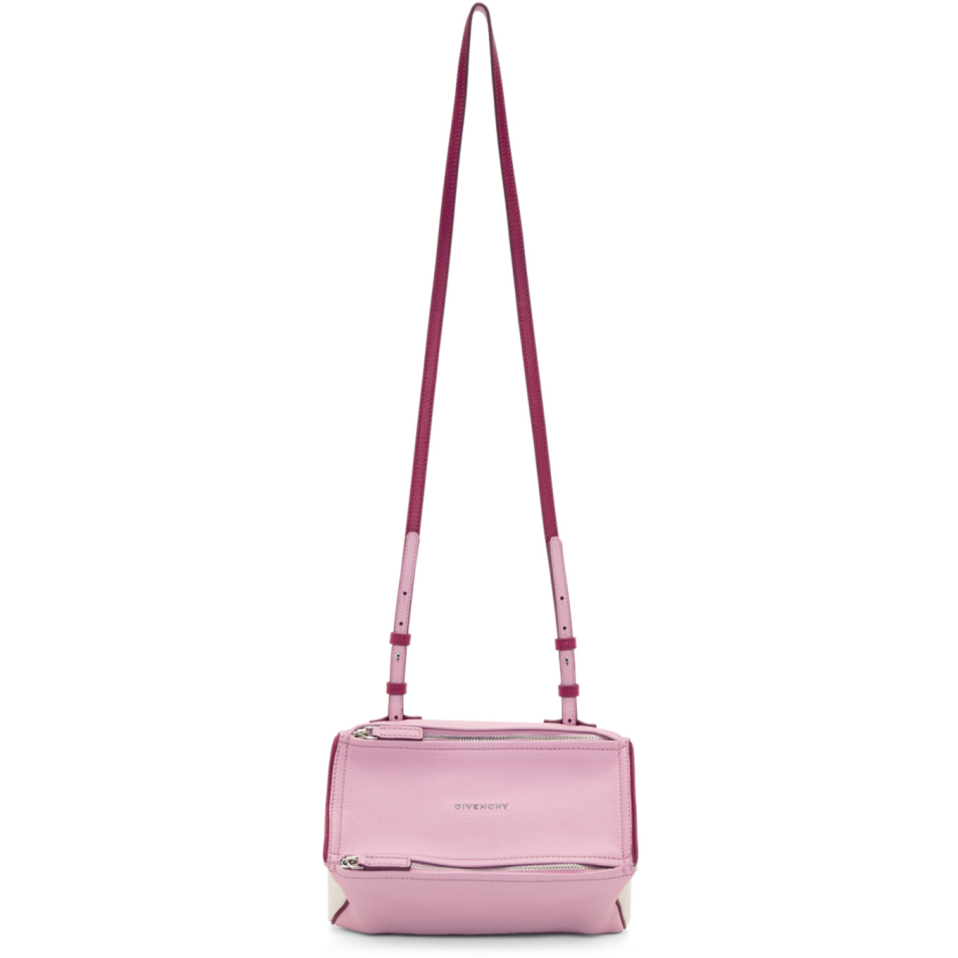 Pink & Off White Mini Pandora Bag by Givenchy
