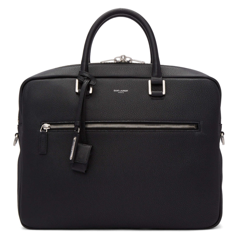 Black Sac De Jour Souple Briefcase by Saint Laurent