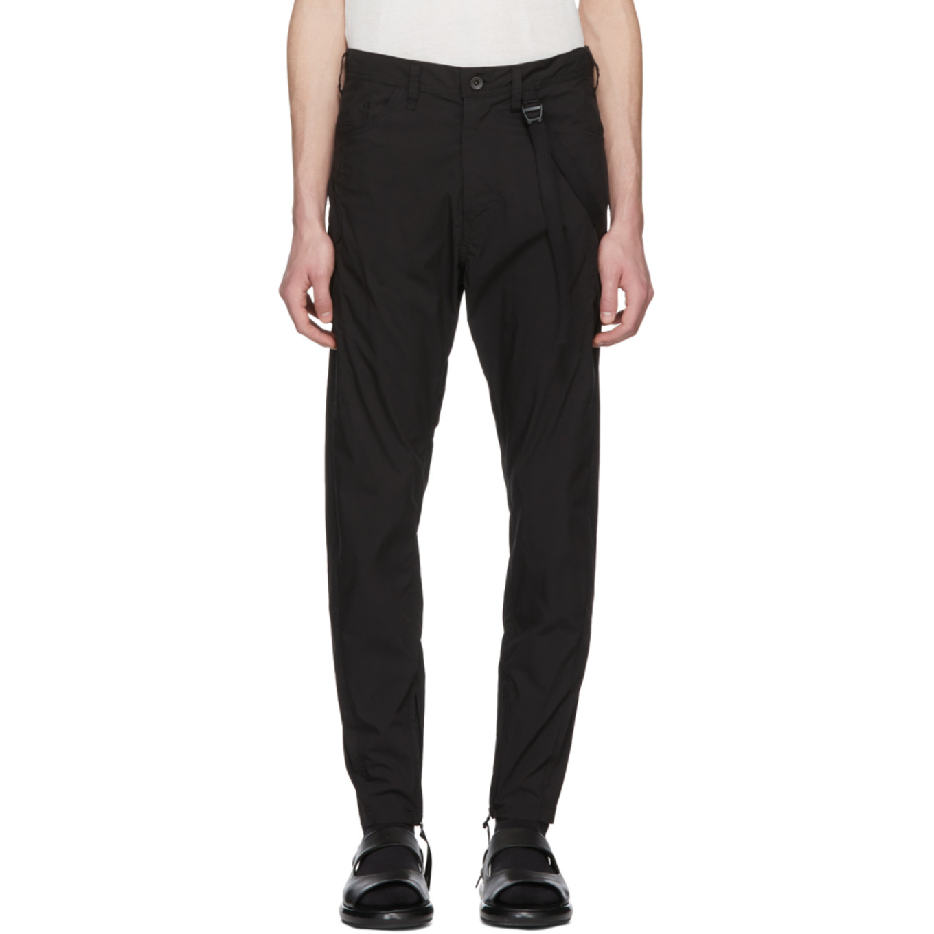 Black Weather Cargo Pants by Julius