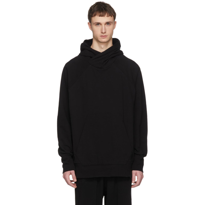 Black Dry Cotton Hoodie by Julius