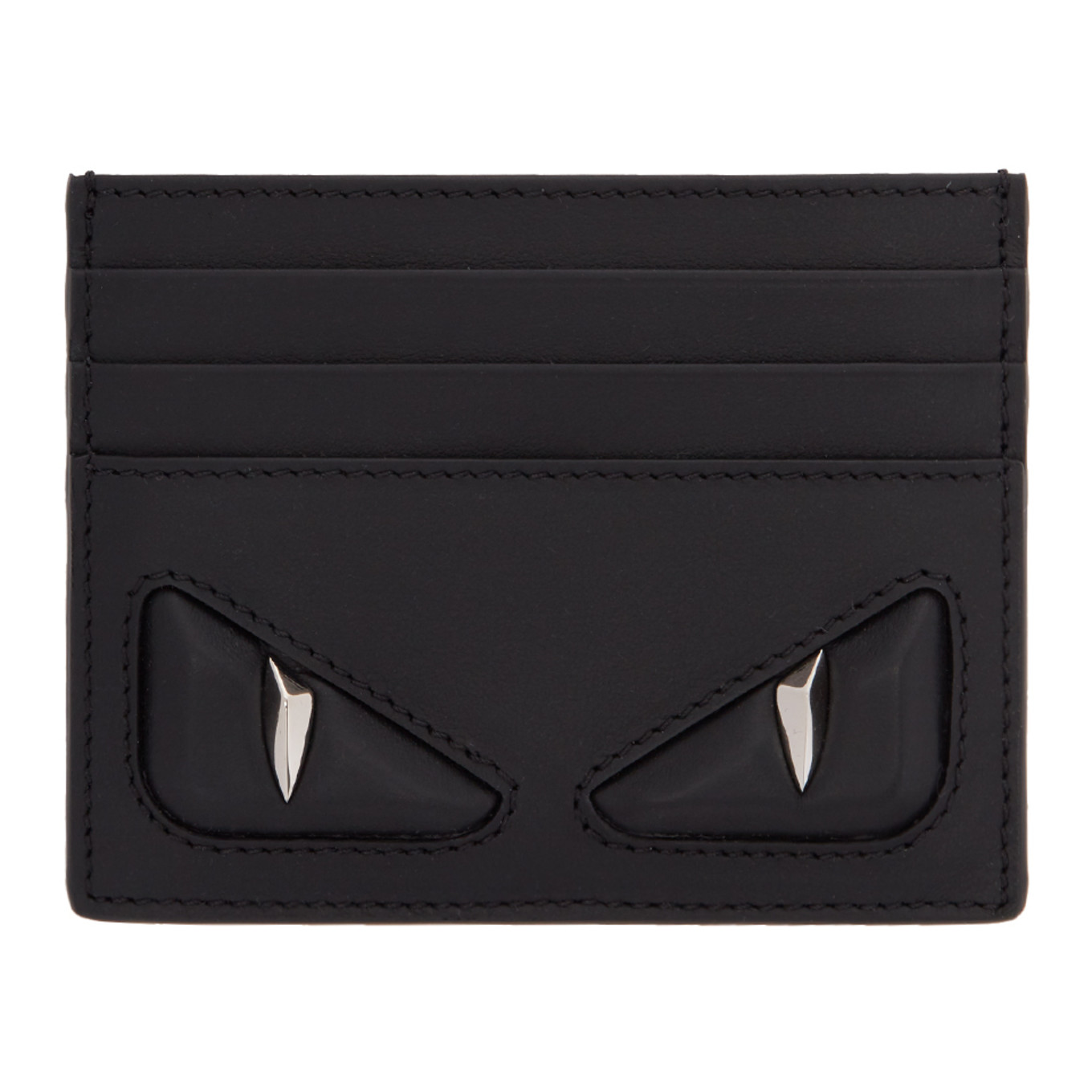 Black 3 D 'bag Bugs' Card Holder by Fendi