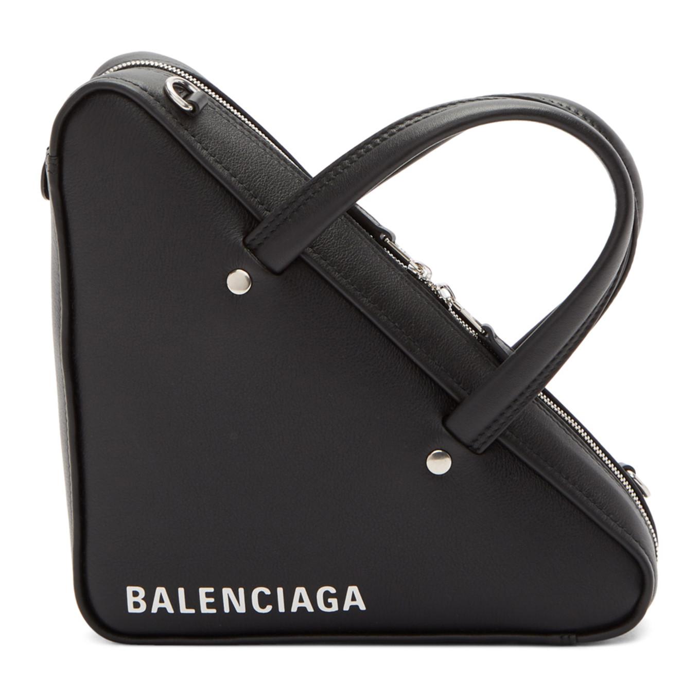 Black Xs Triangle Chain Bag by Balenciaga