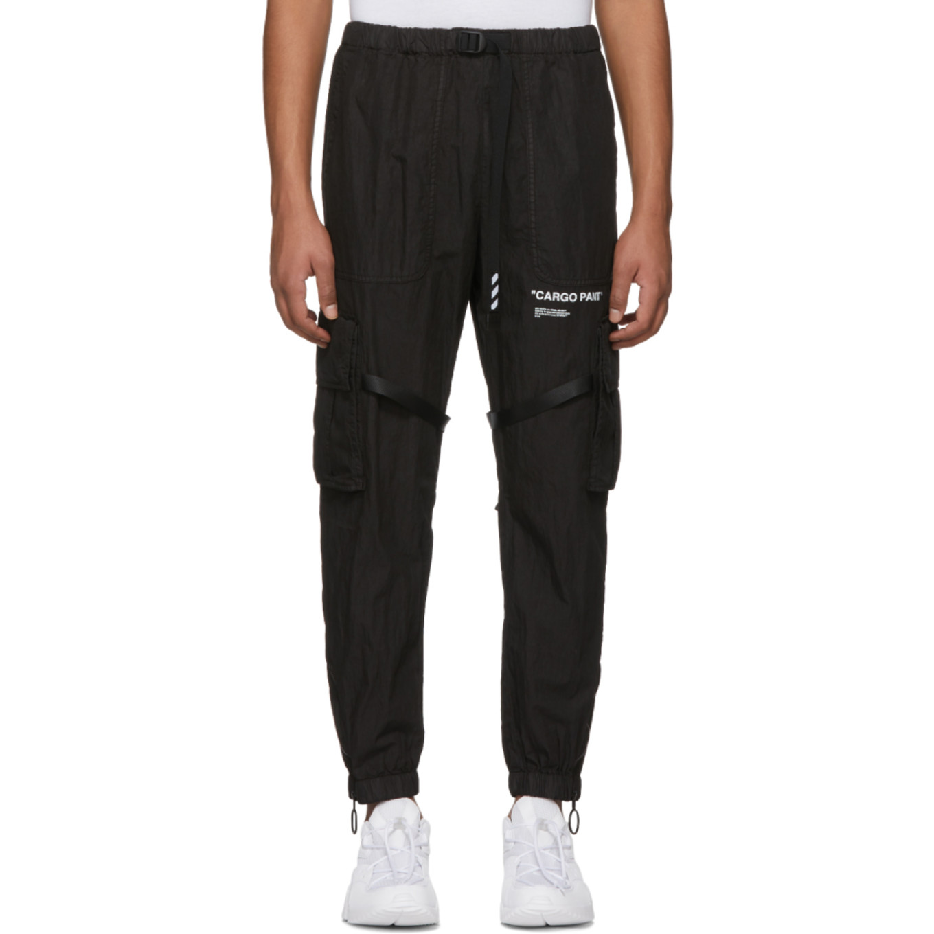 Black Parachute Cargo Pants by Off White