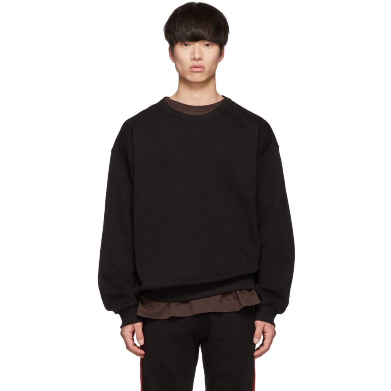 Black Haston Sweatshirt by Dries Van Noten